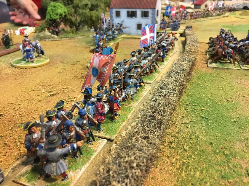 Linea di fanteria alleata