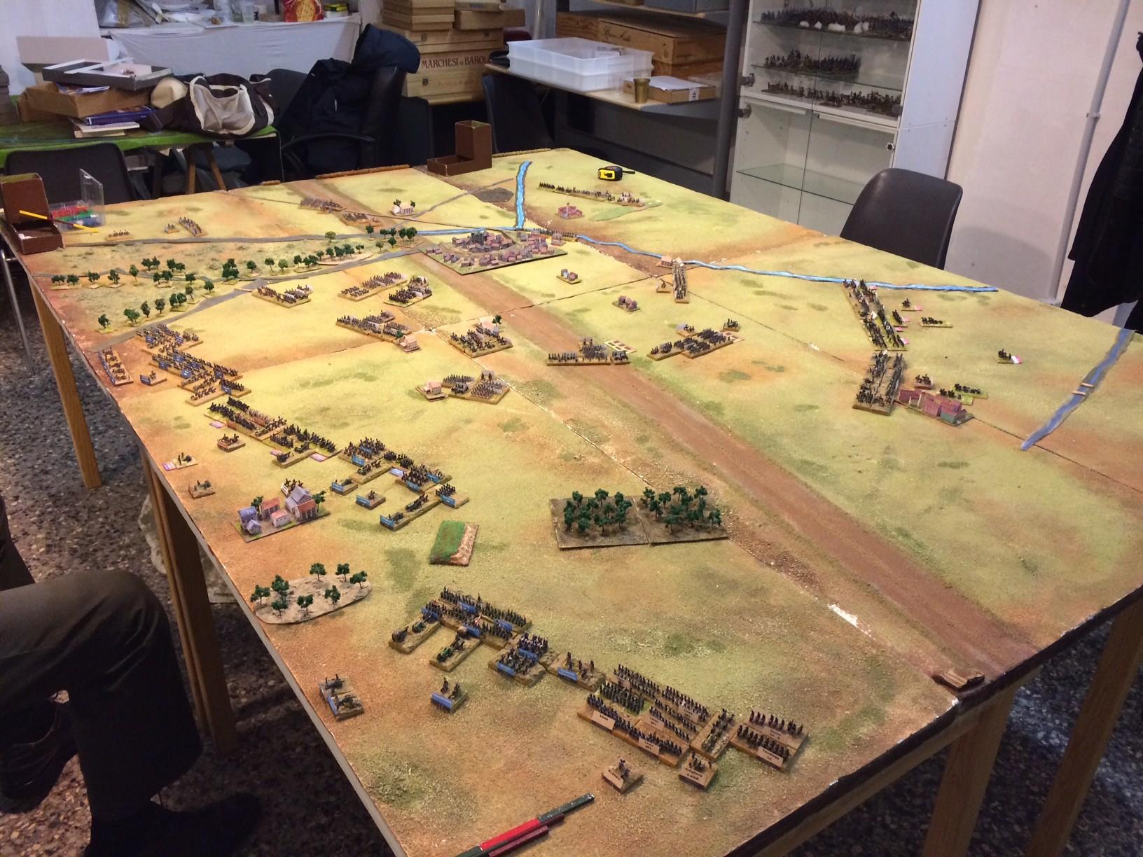 Il campo di battaglia visto dall'alto