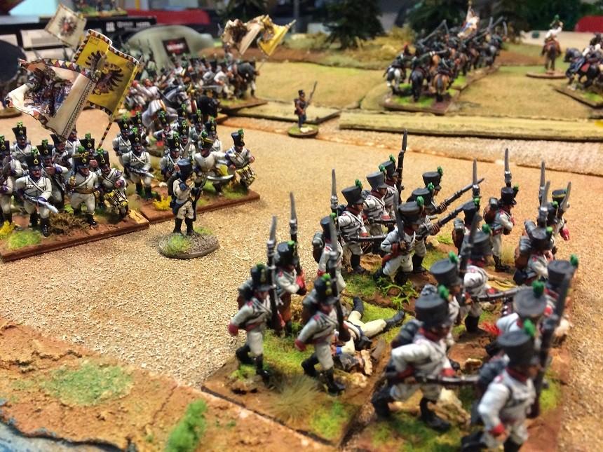 La fanteria Austriaca attacca