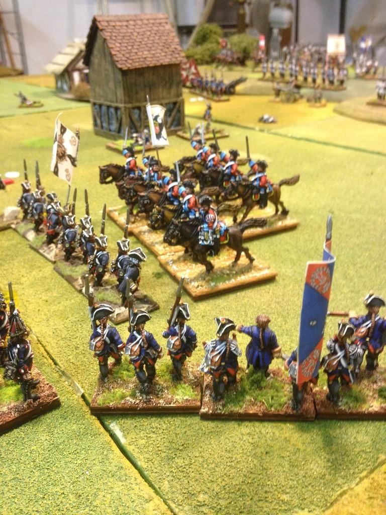 I Dragoni austriaci attaccano i Fanti prussiani