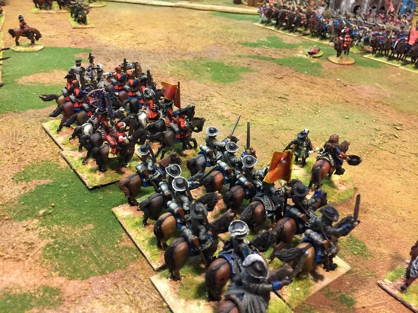 La cavalleria francese avanza