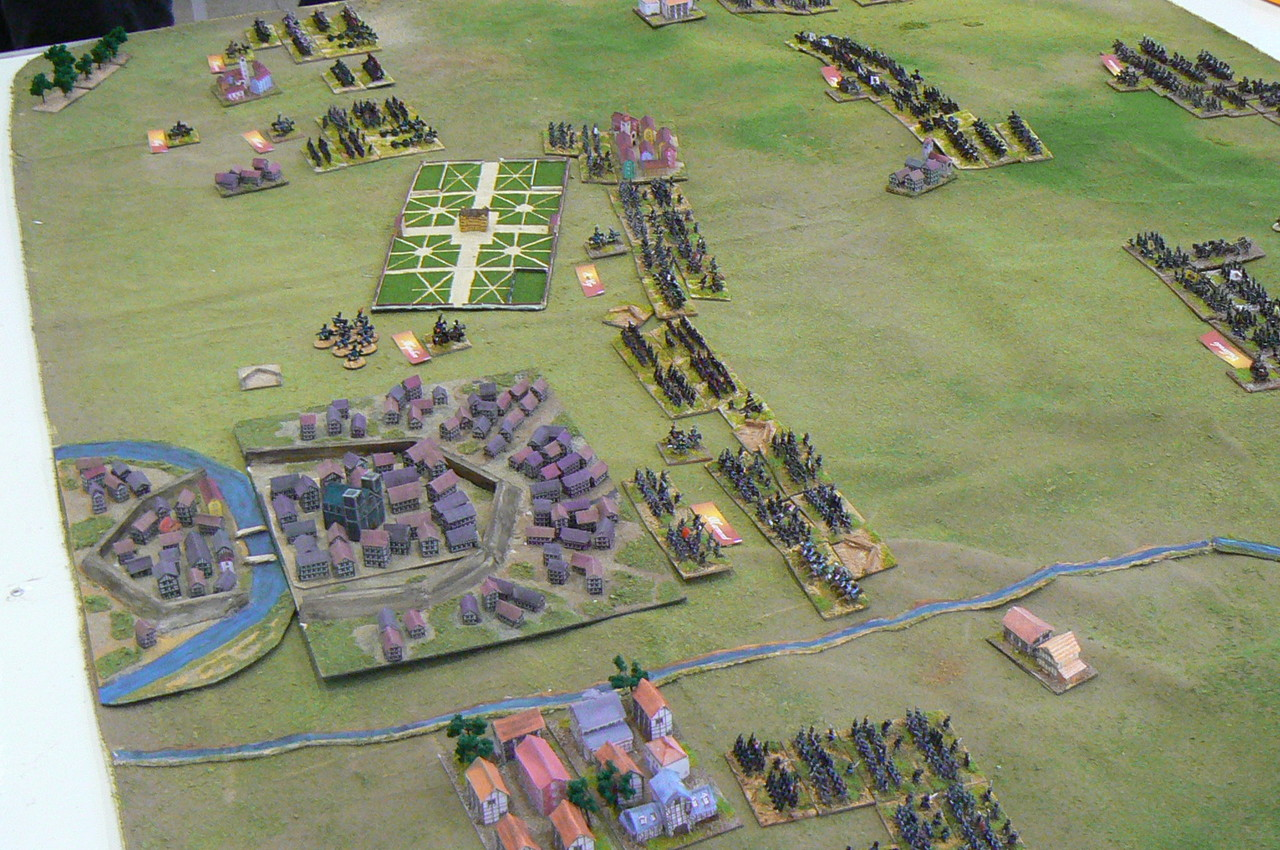 I francesi davanti a  Dresda