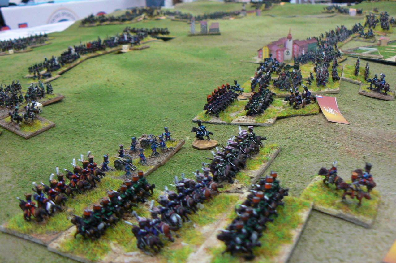 La Cavalleria della Guardia attacca sulla destra