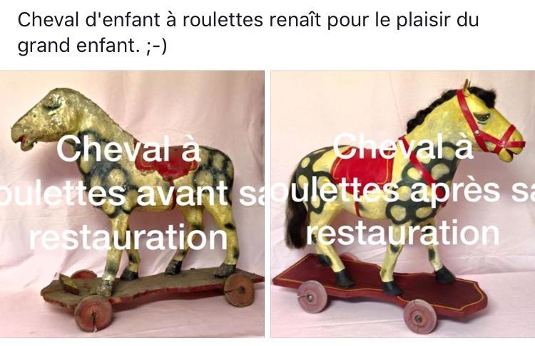 Cheval jouet en bois de La clinique des poupées - Bordeaux