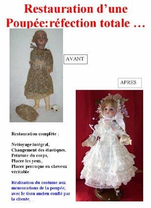 Poupée ancienne de La clinique des poupées - Bordeaux