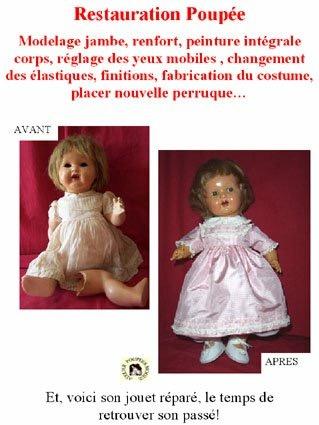Poupée Raynal de La clinique des poupées - Bordeaux