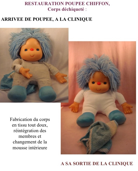 Poupée en chiffon de La clinique des poupées - Bordeaux