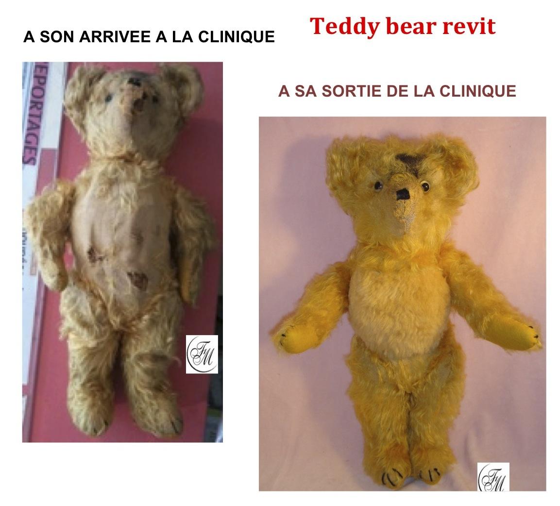 Ours ancien de La clinique des poupées - Bordeaux