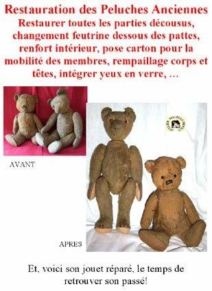 Ours en paille de La clinique des poupées - Bordeaux