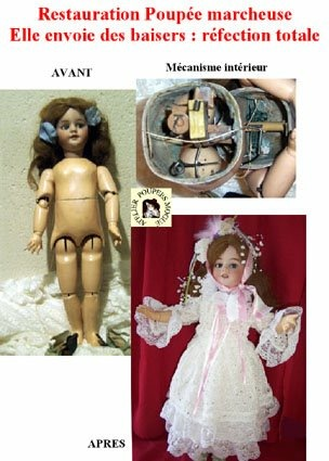 Poupée automate de La clinique des poupées - Bordeaux