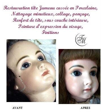 poupée tete en biscuit de La clinique des poupées - Bordeaux