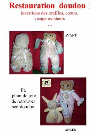 Doudous de La clinique des poupées - Bordeaux