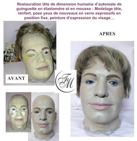 Tête en silicone de La clinique des poupées - Bordeaux