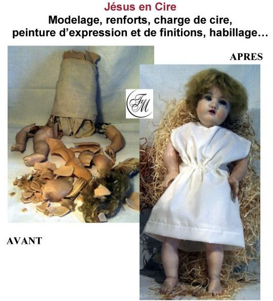 Cire jesus de La clinique des poupées - Bordeaux