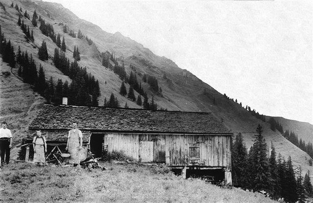 Alphütte vom oberen Lager der Alpe Schetteregg (Heute nicht mehr vorhanden)