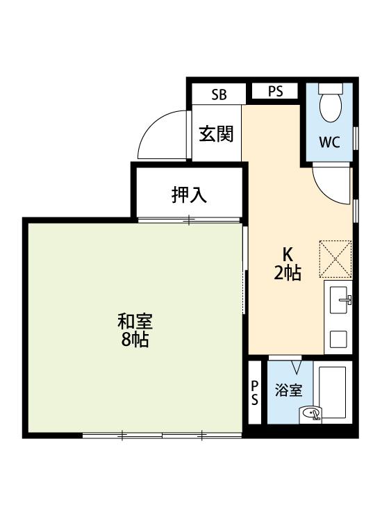 1K コンパクト住宅