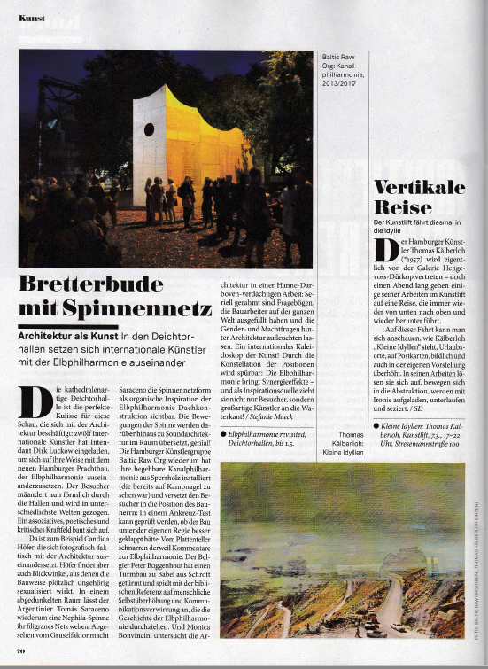 Unter anderem kündigte die Szene Hamburg den Kunstlift mit Thomas Kälberloh im März 2017 an (wie auch die MOPO oder das Abendblatt).