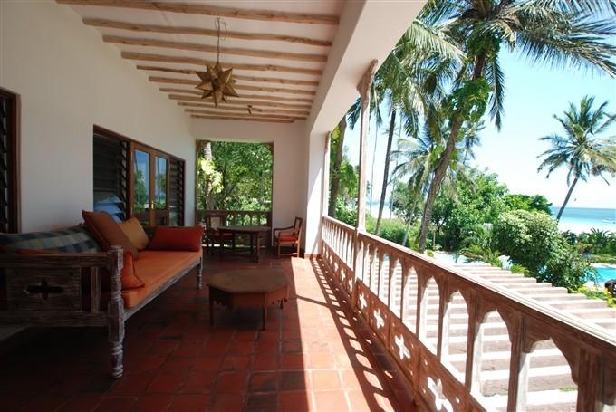 View from the Balconey Mzuri Beach House