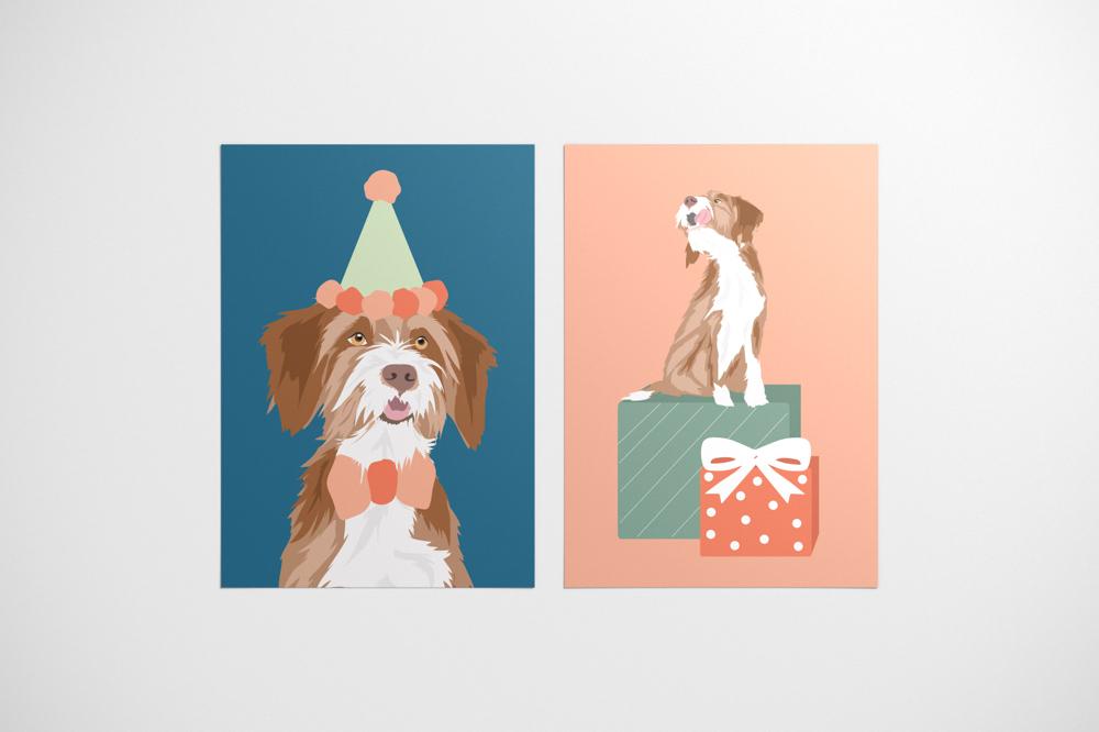 POSTCARD DESIGN for pawness - dog essentials, haarlem, netherlands
