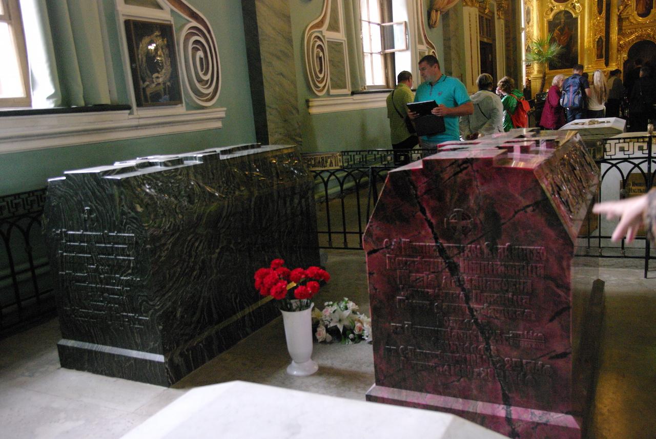 Tombeaux du Tsar Alexandre 2 et de la Tsarine Marie