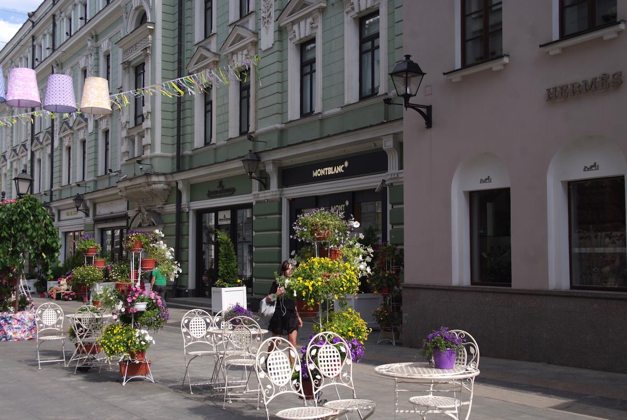 Rues piétonnières dans la quartier entre la Place Pouchkine et le Bolchoï