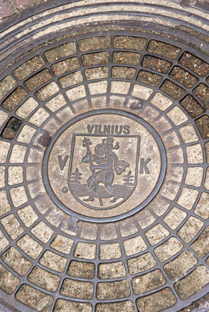 Plaque avec l'emblème de Vilnius