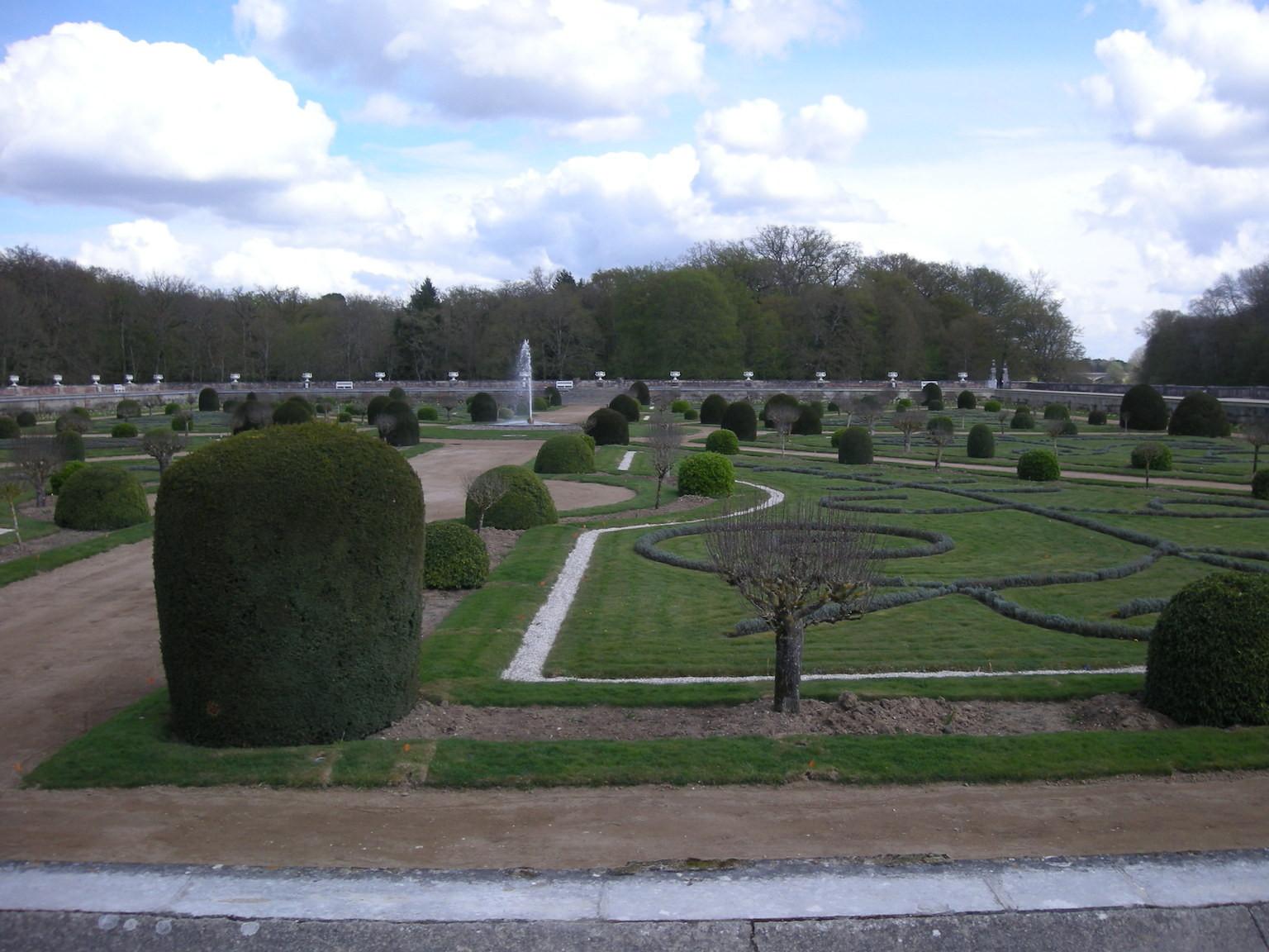 Les jardins à la française.