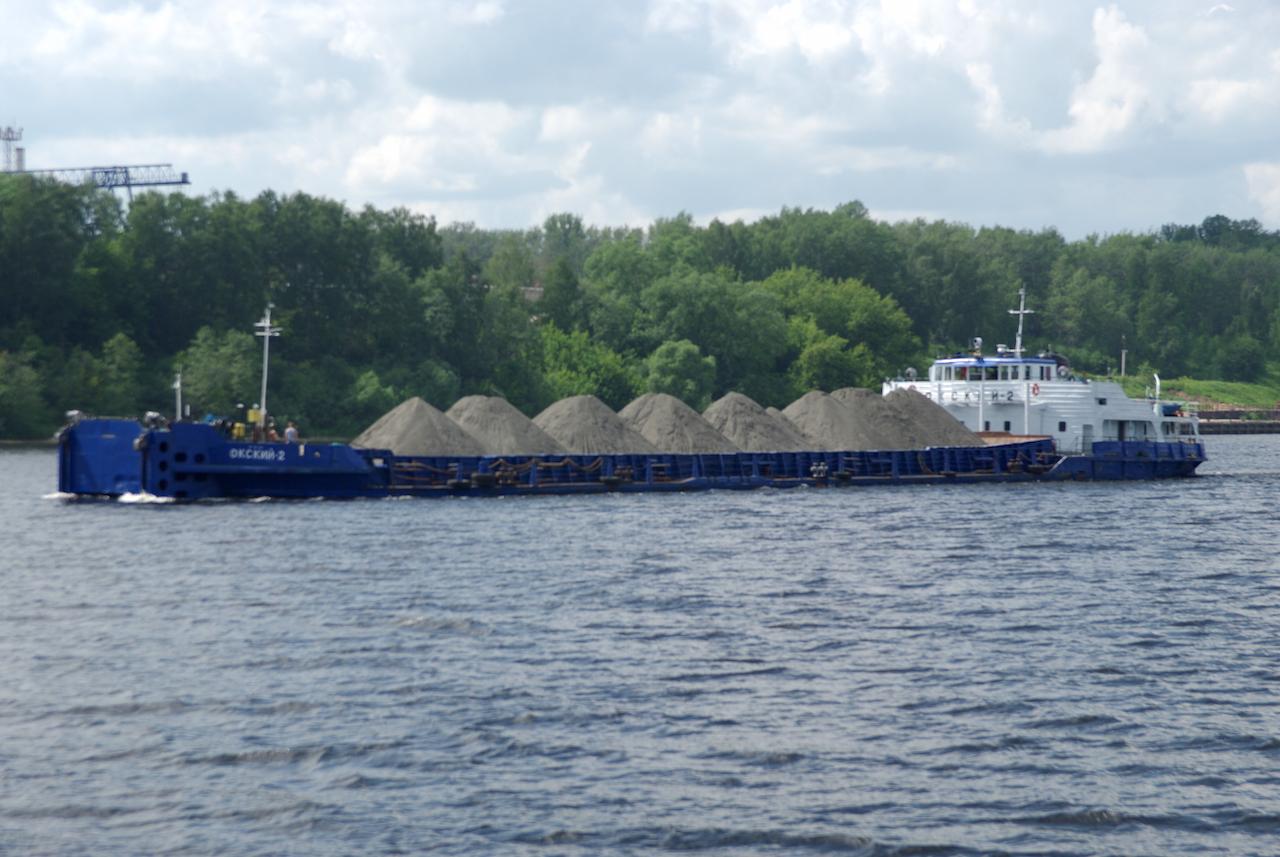 La Volga, fleuve important pour le commerce des marchandises.