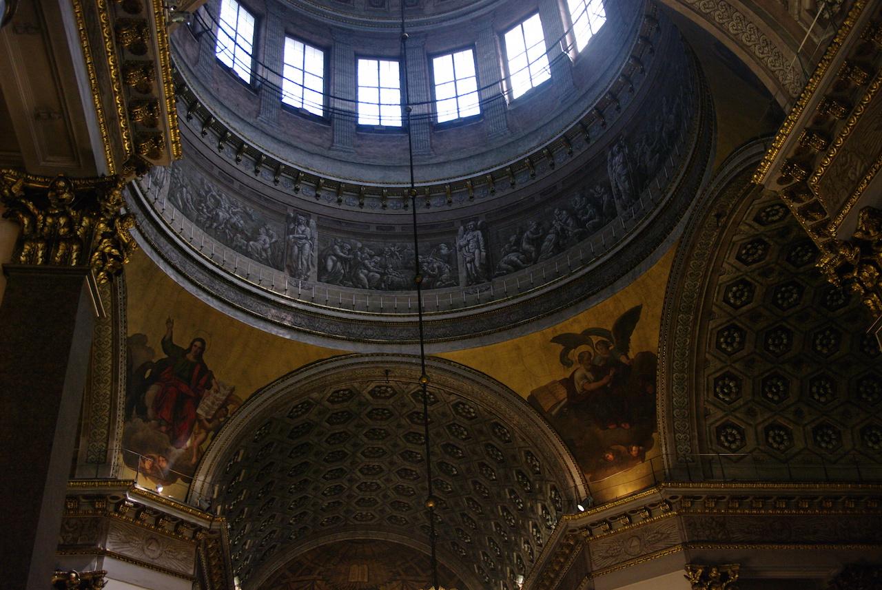 Le dôme de la cathédrale Notre Dame de Kazan