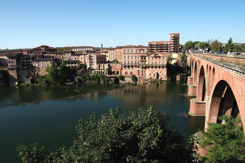 L'autre rive vue du jardin du Palais Berbie et le pont neuf