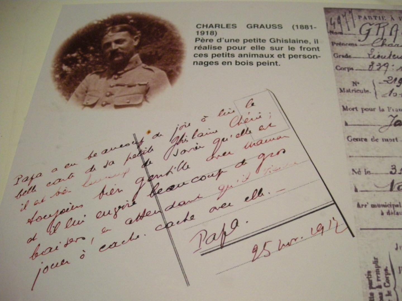Hélas Charles Grauss fut tué au combat en 1918.