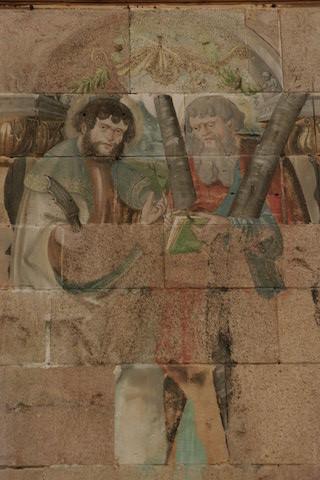 Restes des fresques du Moyen Age