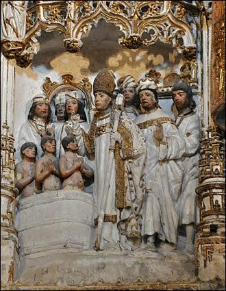 Détail : sans doute la plus célèbre scène de la vie de St Nicolas