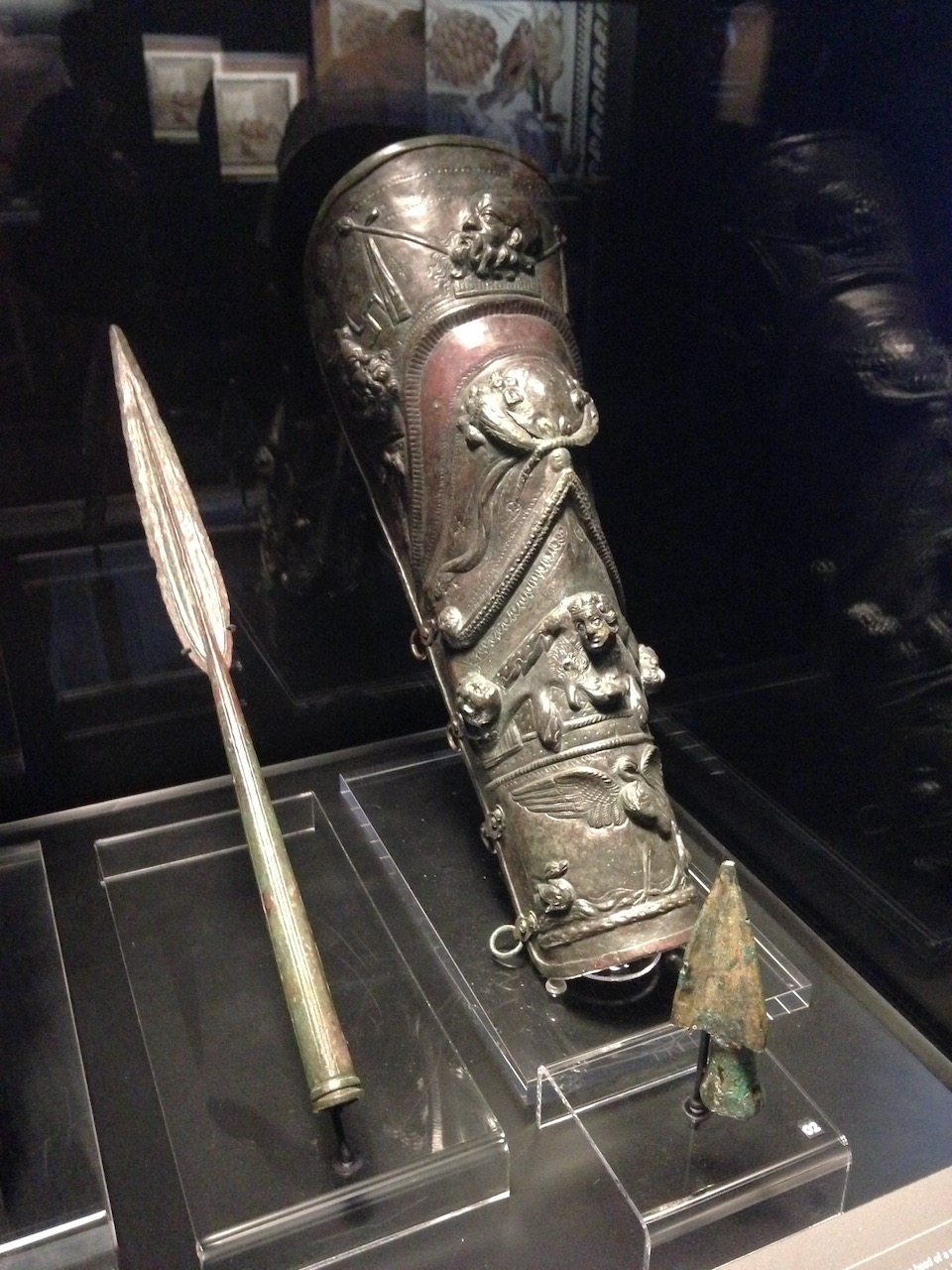 Eléments de l'armure d'un gladiateur.