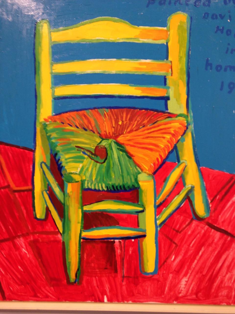 La Chaise et la pipe de Vincent - 1998  - acrylique sur toile.