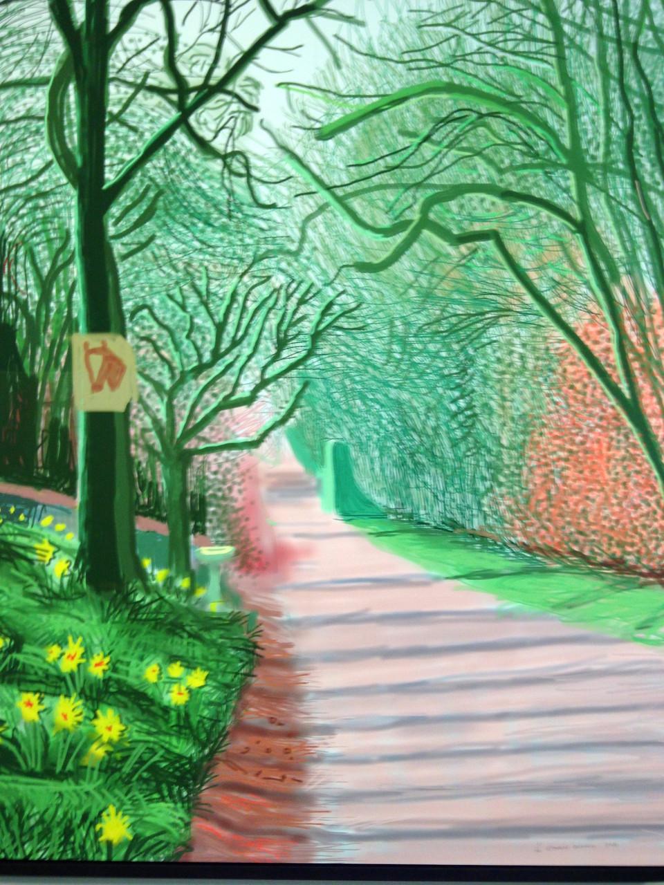 L'Arrivée du printemps à Woldgate, est du Yorkshire, 2011 - dessin sur I Pad