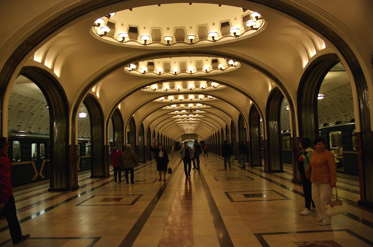Station Mayakovskaia.