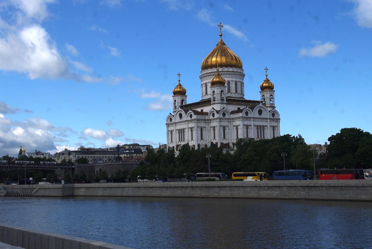La cathédrale du Christ Sauveur, détruite sous Staline et reconstruite à l'identique.