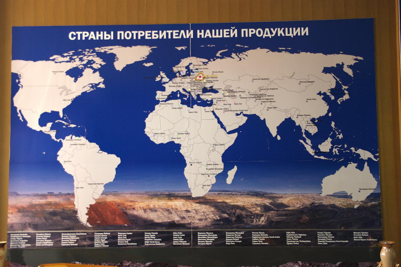 BelAZ exporte dans le Monde entier.