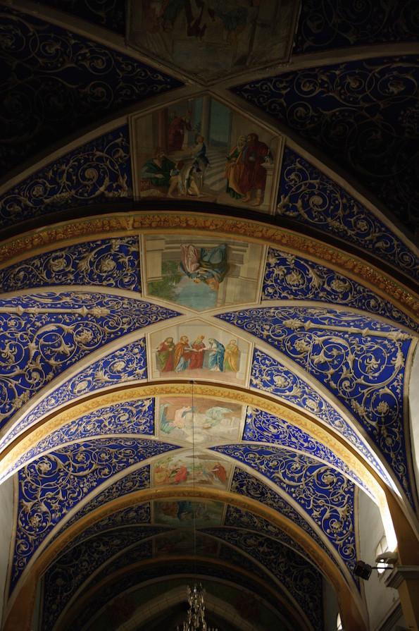 Plafond de l'église Notre Dame de l'Assomption