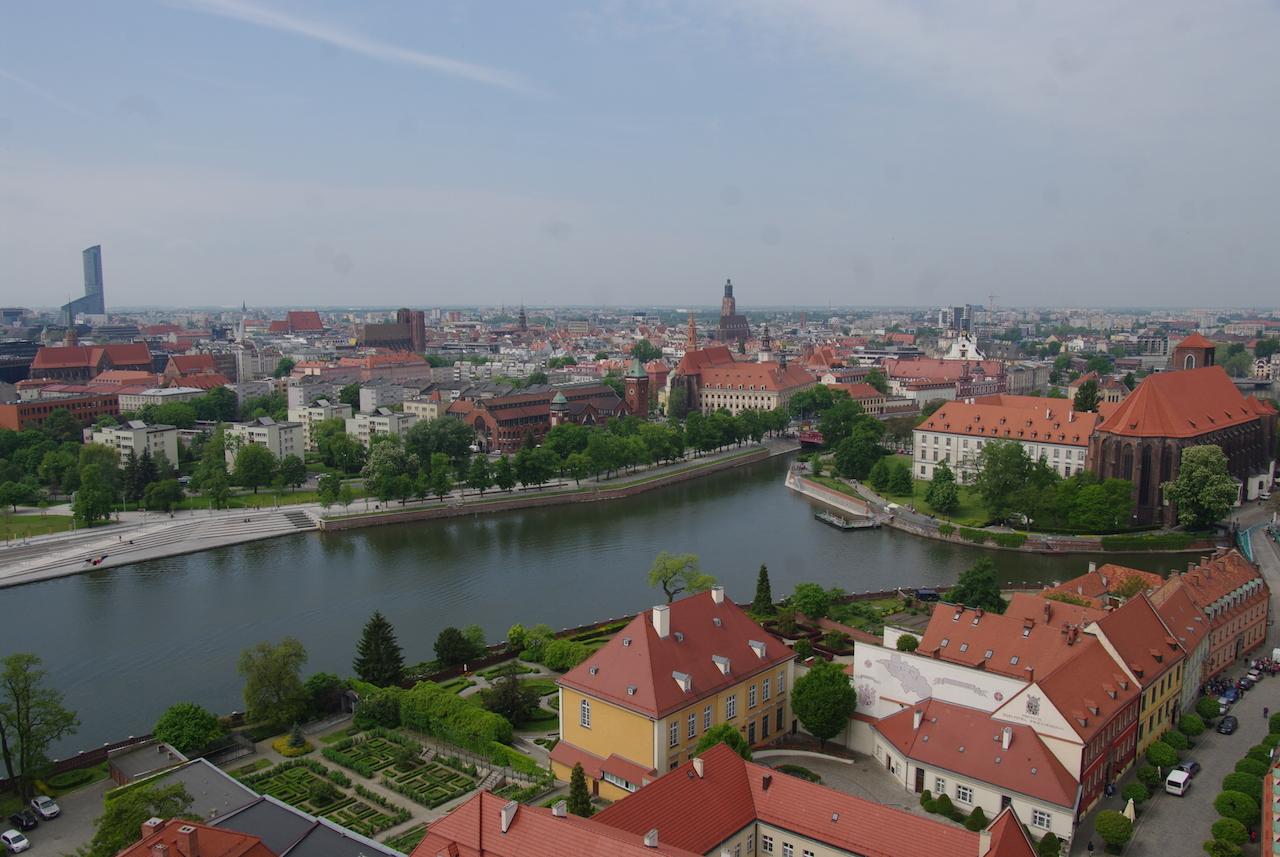 Wroclaw vu du haut de la tour