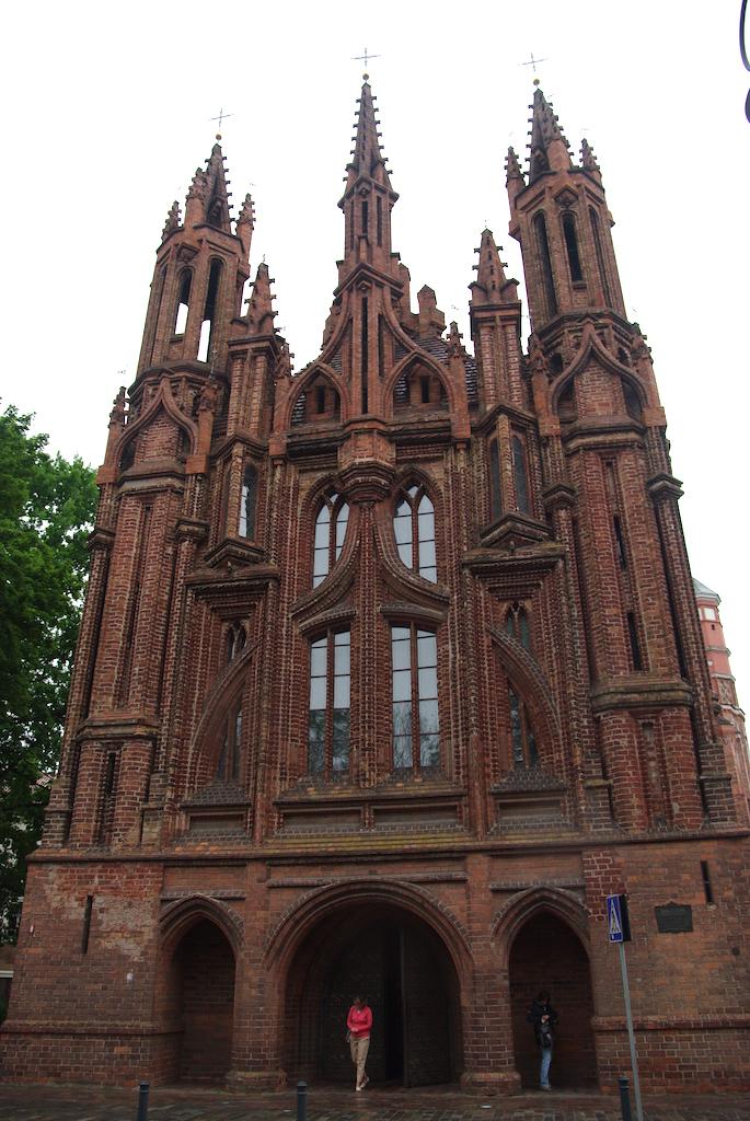 Façade de l'église de Sainte Anne