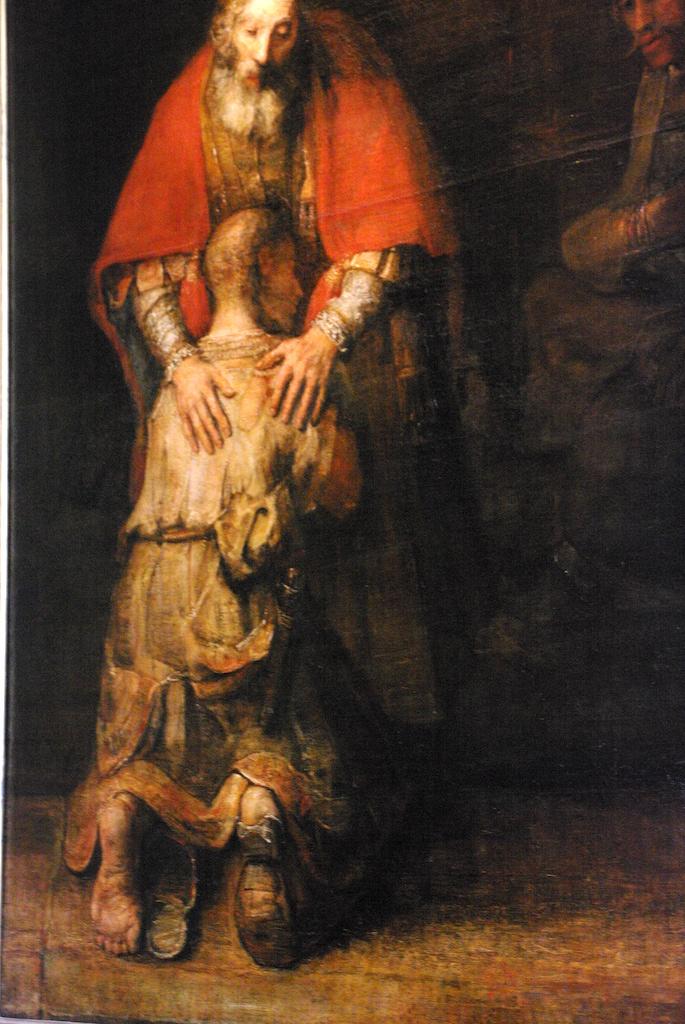 Le retour du fils prodigue - détail - Rembrandt