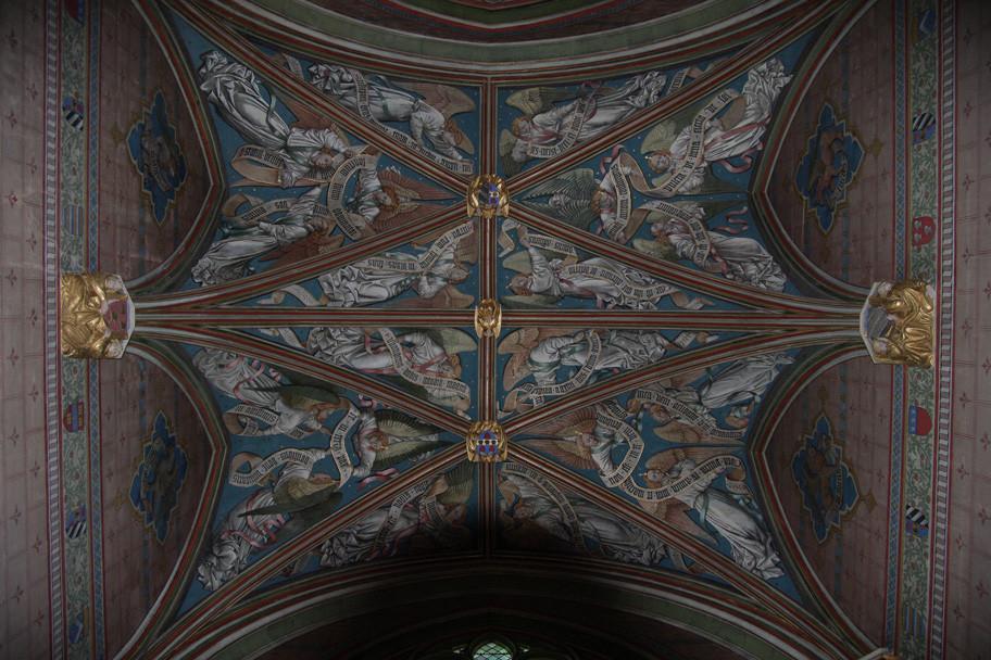 Détail d'un plafond avec une croisée d'arcs exceptionnelle