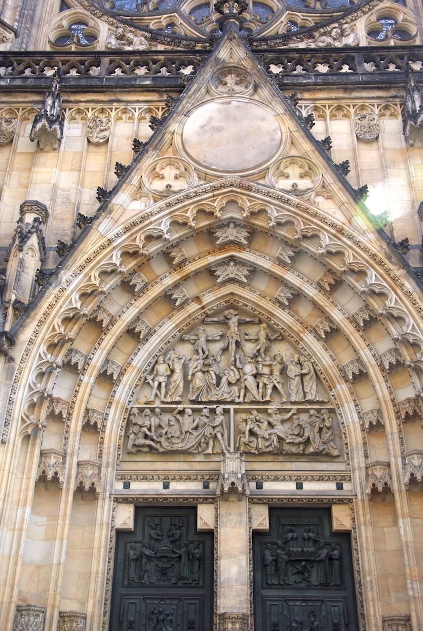 Portail de la cathédrale Saint Guy
