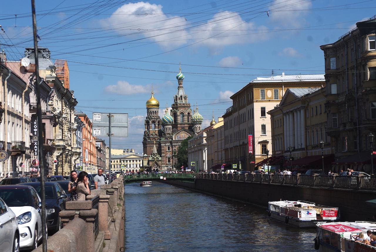 Le canal Griboyedov et la Cathédrale Saint Sauveur sur le Sang Versé