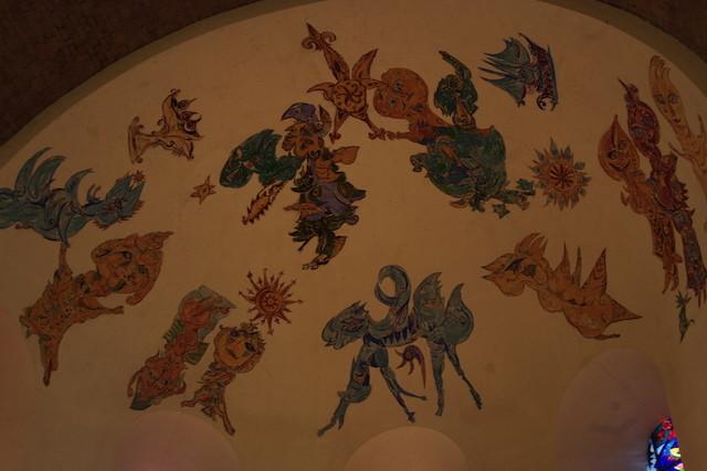 Les fresques de la voûte du choeur