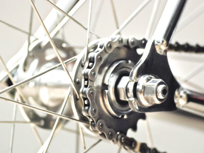 固定ギア 自転車の後輪