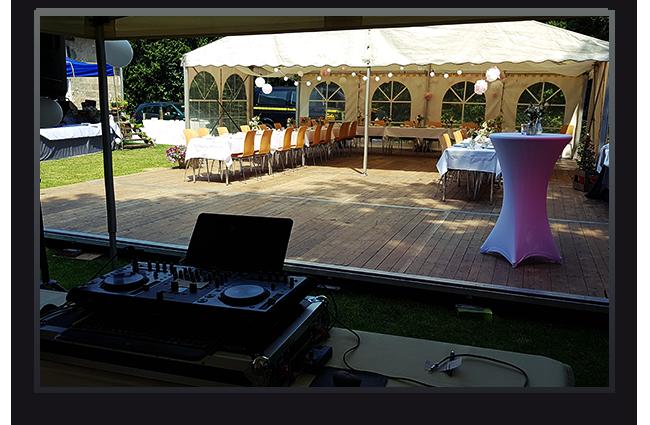 Hochzeitsfeier im Garten, Lohmar