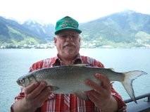 Gerd in Zell am See 2013 Felchenfischen